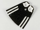 Part No: 522px2  Name: Minifigure, Cape Cloth, Standard with Black Back and Stripes Pattern