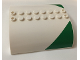 Part No: 54095pb08  Name: Slope, Curved 8 x 8 x 2 Double with Green Triangle Pattern on Both Sides (Stickers) - Set 60022