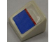 Part No: 54200pb034  Name: Slope 30 1 x 1 x 2/3 with Red Line on Blue and White Pattern (Sticker) - Set 8125