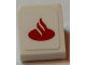 Part No: 54200pb084  Name: Slope 30 1 x 1 x 2/3 with Red Santander Logo on White Background Pattern (Sticker) - Set 75913
