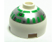 Part No: 553pb002  Name: Brick, Round 2 x 2 Dome Top with Silver and Green Pattern (R2-R7)