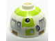 Part No: 553pb005  Name: Brick, Round 2 x 2 Dome Top with Silver and Lime Pattern (R7-A7)