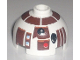 Part No: 553pb008  Name: Brick, Round 2 x 2 Dome Top with Reddish Brown Pattern (R7-D4)