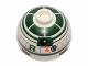 Part No: 553pb018  Name: Brick, Round 2 x 2 Dome Top with Dark Green Pattern (R2-X2)
