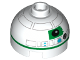 Part No: 553pb021  Name: Brick, Round 2 x 2 Dome Top with Green Pattern (R2 Unit)