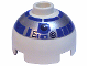 Part No: 553px2  Name: Brick, Round 2 x 2 Dome Top with Silver and Blue Pattern (R2-D2)