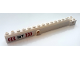 Part No: 57779pb014  Name: Crane Arm Outside, Wide with Pin Hole at Mid-Point with Black '10T' and Red and White Arrows Pattern on Both Sides (Stickers) - Set 60233
