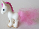Part No: 57889pb01  Name: Duplo Horse Foal with Eyelashes, Gold Hooves, and Pink Mane and Tail