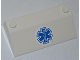 Part No: 58181pb04  Name: Slope 33 3 x 6 without Inner Walls with Blue EMT Star of Life Pattern on White Background (Sticker) - Set 4431