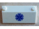 Part No: 58181pb07  Name: Slope 33 3 x 6 without Inner Walls with Blue EMT Star of Life Pattern on Clear Background (Sticker) - Set 60023