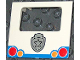 Part No: 58236pb02  Name: Duplo Van Type 2 Rear Door with Taillights and Silver Police Badge Pattern