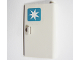 Part No: 58380pb02  Name: Door 1 x 3 x 4 Right - Open Between Top and Bottom Hinge with Maersk Logo Pattern (Sticker) - Set 10219