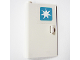 Part No: 58381pb02  Name: Door 1 x 3 x 4 Left - Open Between Top and Bottom Hinge with Maersk Logo Pattern (Sticker) - Set 10219