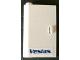Part No: 58381pb03  Name: Door 1 x 3 x 4 Left - Open Between Top and Bottom Hinge (New Type) with 'Vestas' Logo Pattern (Sticker) - Set 4999