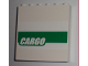 Part No: 59349pb005  Name: Panel 1 x 6 x 5 with White 'CARGO' on Green Stripe Pattern (Sticker) - Set 7733