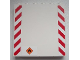 Part No: 59349pb072  Name: Panel 1 x 6 x 5 with Red and White Danger Stripes and Black Flame Pattern (Stickers) - Set 60020