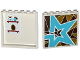 Part No: 59349pb099L  Name: Panel 1 x 6 x 5 with Perfume Bottles and Mirror on Inside and Triangles Mosaic and Star on Outside Pattern Model Left Side (Stickers) - Set 41106