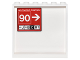 Part No: 59349pb102  Name: Panel 1 x 6 x 5 with Red Sign with 'AIR TRAFFIC CONTROL', '90', 'J', 'B', 'C', 'R' and Arrows Pattern on Inside (Sticker) - Set 76051
