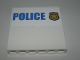 Part No: 59349pb162  Name: Panel 1 x 6 x 5 with Blue 'POLICE' on White Background and Gold Police Badge Pattern (Sticker) - Set 60139
