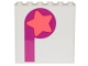 Part No: 59349pb175  Name: Panel 1 x 6 x 5 with Coral Star on Magenta Circle and Stripe Pattern (Sticker) - Set 70828