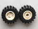 Part No: 6014ac01  Name: Wheel 11mm D. x 12mm, Hole Round for Wheels Holder Pin with Black Tire 21mm D. x 12mm - Offset Tread Small Wide (6014a / 6015)