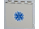 Part No: 60581pb009  Name: Panel 1 x 4 x 3 with Side Supports - Hollow Studs with Blue EMT Star of Life Pattern (Sticker) - Set 4431