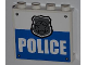 Part No: 60581pb011  Name: Panel 1 x 4 x 3 with Side Supports - Hollow Studs with 4 Rivets, Silver Police Badge and 'POLICE' Pattern (Sticker) - Set 4440