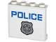 Part No: 60581pb037  Name: Panel 1 x 4 x 3 with Side Supports - Hollow Studs with Silver Police Badge and Blue 'POLICE' Pattern (Sticker) - Set 60043