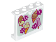 Part No: 60581pb070  Name: Panel 1 x 4 x 3 with Side Supports - Hollow Studs with Sign with 4 Ice Cream Cones and Prices Pattern