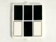 Part No: 60601pb012  Name: Glass for Window 1 x 2 x 2 with 4 Black and 2 White Rectangles Pattern (Tardis Windows)
