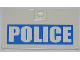 Part No: 60616pb002R  Name: Door 1 x 4 x 6 with Stud Handle with White 'POLICE' on Blue Background Pattern Model Right Side (Sticker) - Set 7288