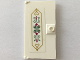 Part No: 60616pb044  Name: Door 1 x 4 x 6 with Stud Handle with Magenta Flowers and Sand Green Scrollwork inside Golden Ornament Frame Pattern (Sticker) - Set 41068