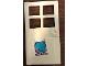 Part No: 60623pb08  Name: Door 1 x 4 x 6 with 4 Panes and Stud Handle with Paw Print on Pet Door Pattern (Sticker) - Set 41314