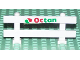 Part No: 6079pb01  Name: Fence 1 x 8 x 2 2/3 with Octan Logo Pattern (Sticker) - Set 6551