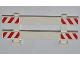Part No: 6079pb04  Name: Fence 1 x 8 x 2 2/3 with Red and White Danger Stripes Pattern on Ends (4 Stickers) - Set 4434