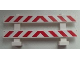 Part No: 6079pb07  Name: Fence 1 x 8 x 2 2/3 with Red and White Danger Stripes (Small Red Corners) Pattern (Stickers) - Set 60026