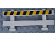 Part No: 6079pb08  Name: Fence 1 x 8 x 2 2/3 with Black and Yellow Danger Stripes Pattern (Sticker) - Set 60138