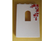 Part No: 60808pb004  Name: Panel 1 x 4 x 5 with Window with Red Bricks Pattern Top Right (Sticker) - Set 6242