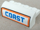Part No: 6081pb010  Name: Brick, Modified 2 x 4 x 1 1/3 with Curved Top with 'COAST' Pattern (Sticker) - Set 7738