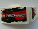 Part No: 61070pb008  Name: Technic, Panel Car Mudguard Right with LEGO TECHNIC Logo and Black and Red Stains Pattern (Stickers) - Set 8262