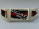 Part No: 61073pb05L  Name: Technic, Panel Car Spoiler 3 x 8 with Three Holes with 'QUAD BIKE', 'SUBSOUND LIMITER' and Black and Red Stains Pattern Model Left Side (Stickers) - Set 8262