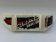 Part No: 61073pb05R  Name: Technic, Panel Car Spoiler 3 x 8 with Three Holes with 'QUAD BIKE', 'SUBSOUND LIMITER' and Black and Red Stains Pattern Model Right Side (Stickers) - Set 8262