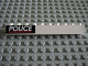 Part No: 6111pb007  Name: Brick 1 x 10 with White 'POLICE' and Red Line on Black Background Pattern (Sticker) - Set 6598