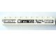 Part No: 6111pb021  Name: Brick 1 x 10 with Black 'Hevado', 'XSTREAM', 'Super Fast' and 'NUTY REZ' Pattern (Sticker) - Set 8154