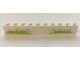Part No: 6111pb030  Name: Brick 1 x 10 with Grass and Hearts Pattern (Stickers) - Set 7586