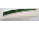 Part No: 61678pb008R  Name: Slope, Curved 4 x 1 No Studs with Red, Black and Green Pattern, Model Right (Sticker) - Set 8898