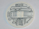 Part No: 6177pb009L  Name: Tile, Round 8 x 8 with Machinery Pattern Model Left (Sticker) - Set 10019