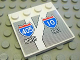Part No: 6179pb026  Name: Tile, Modified 4 x 4 with Studs on Edge with Road Sign '405 NORTH' and '10 EAST' Pattern (Sticker) - Set 8147