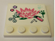 Part No: 6179pb136  Name: Tile, Modified 4 x 4 with Studs on Edge with Flower, Scissors, Felt Pen and Paw Prints Pattern (Sticker) - Set 41342