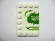 Part No: 6180pb029L  Name: Tile, Modified 4 x 6 with Studs on Edges with 'My Lego Network' Left Half Pattern